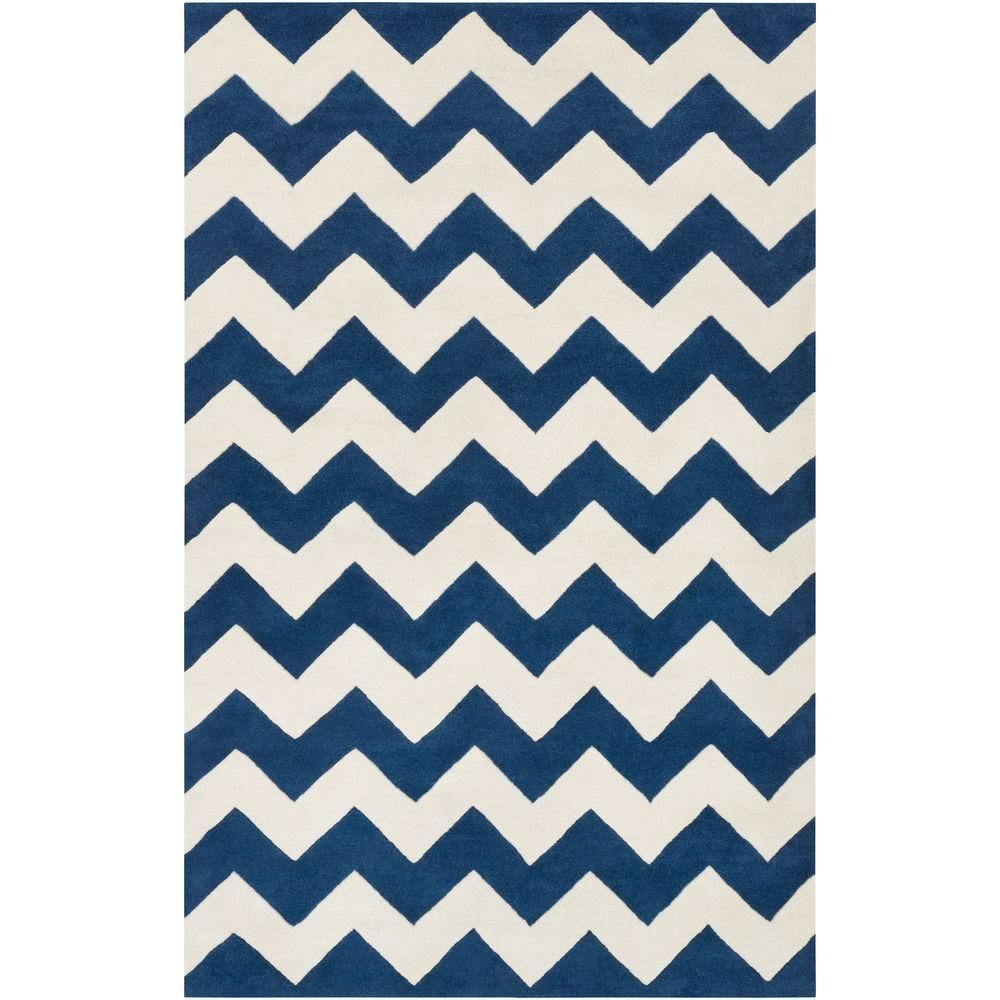 Transit Penelope Navy Blue 2 Ft X 3 Ft Indoor Accent Rug Chevron Area Rugs Artistic Weavers Modern Area Rugs