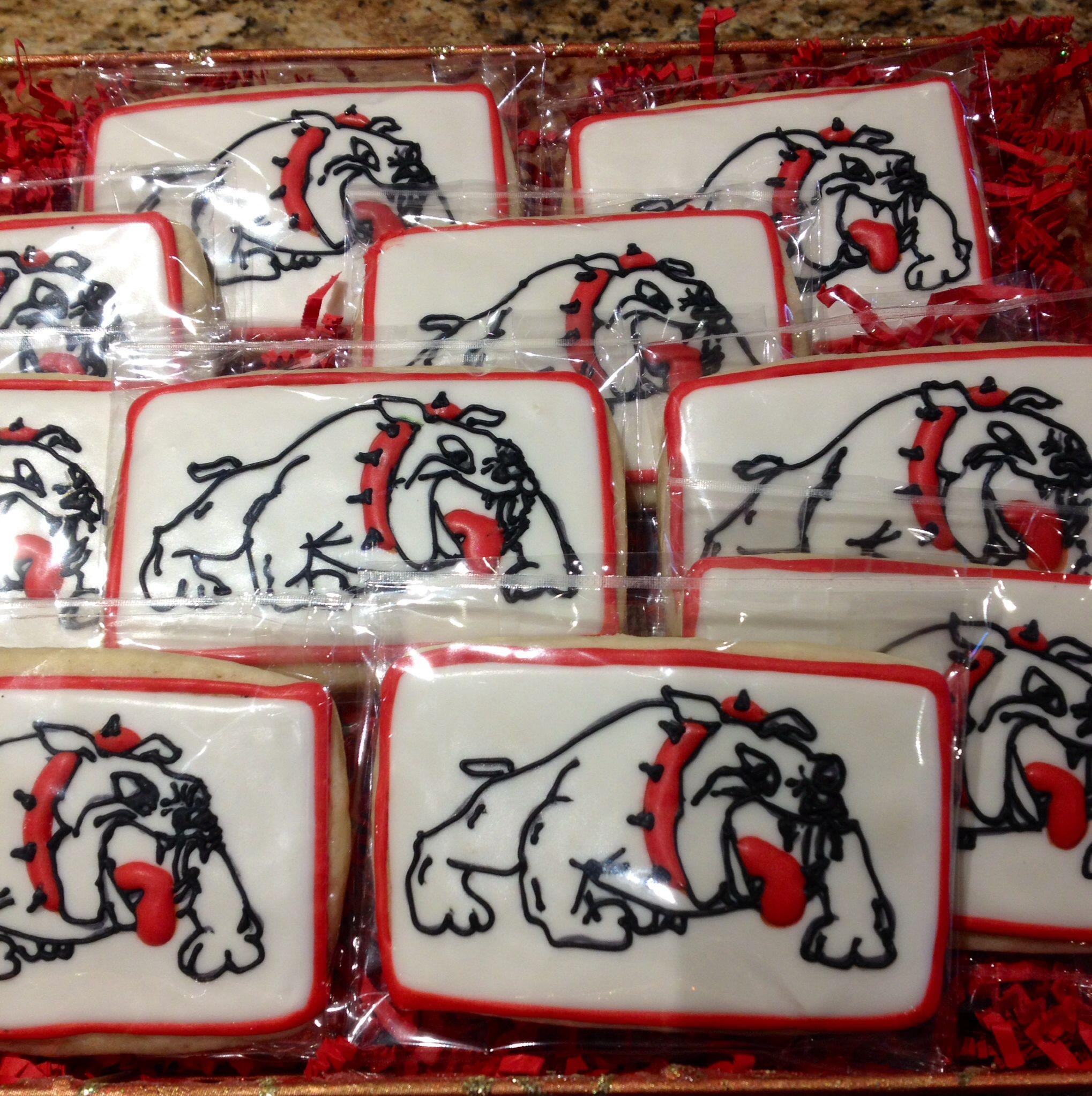 Bulldog cookies