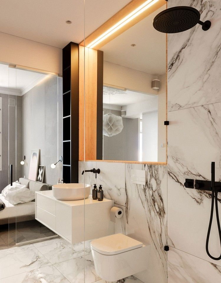 Badezimmer Marmor Im Badezimmer Modern Inszenieren 40 Ideen Fur