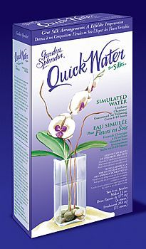 Quickwater for silks simulated water chemistry cure and acrylics the quick water artificial water kit will bring life like detail to your artificial flower display mightylinksfo Gallery
