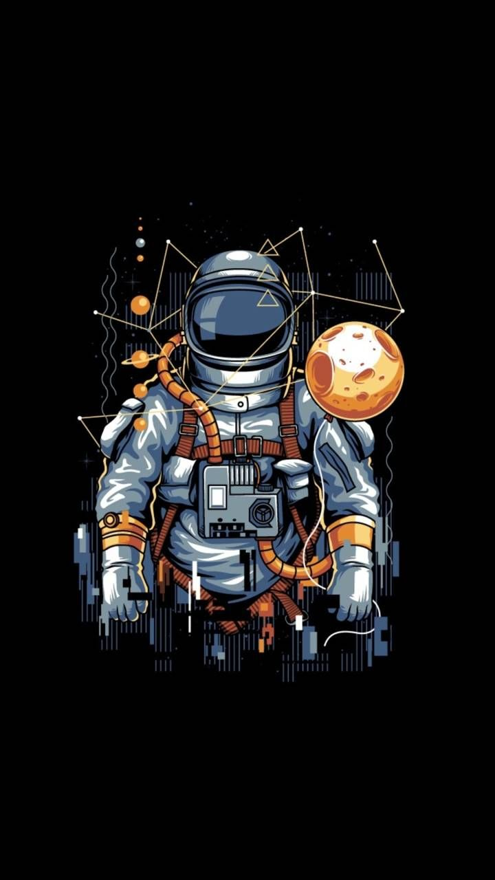 AMOLED Astronaut wallpaper by Studio929 - 04 - Free on ZEDGE™