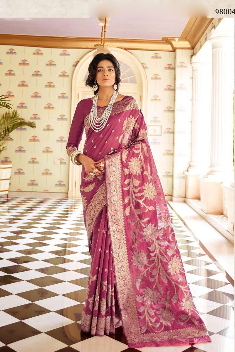 Maroon Festive Wear Weaved Silk Saree Album No 1053 Saree Fabric Silk Blouse Fabric Silk Rate 2860INR Free Shipping In India For Order Please Inbox shipping