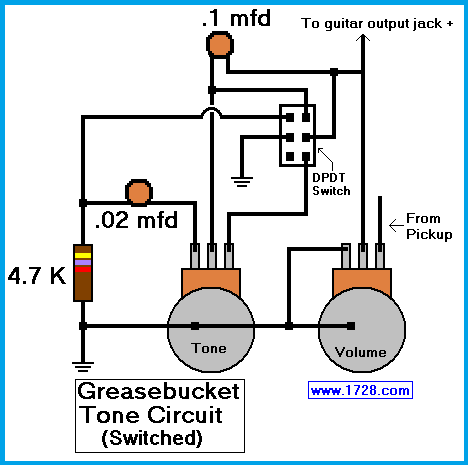 guitar tone pot wiring mod garage the fender greasebucket tonegreasebucket tone circuit for guitar guitar making in 2019 guitar tone pot wiring mod garage the fender greasebucket tone circuit