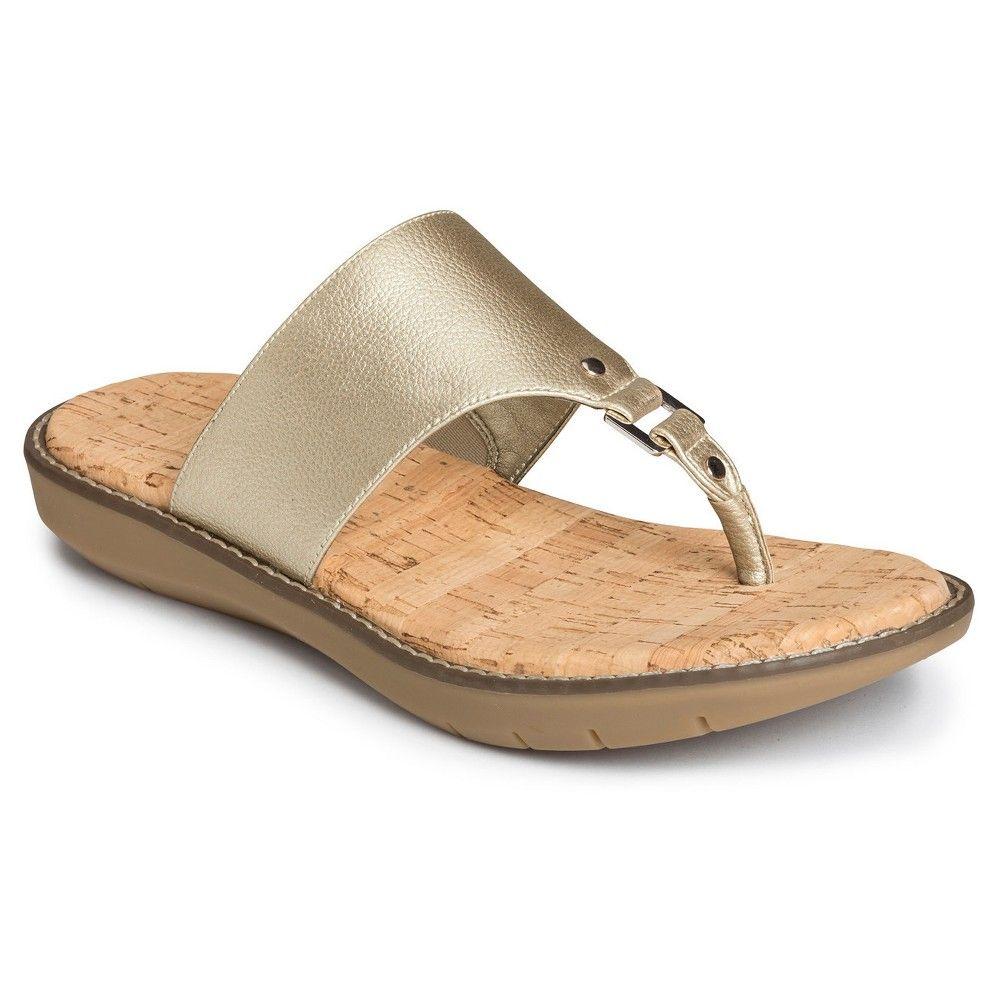 aaf3526caeda Women s A2 by Aerosoles Cool Cat Wide Width Slide Sandals - Gold 10.5W
