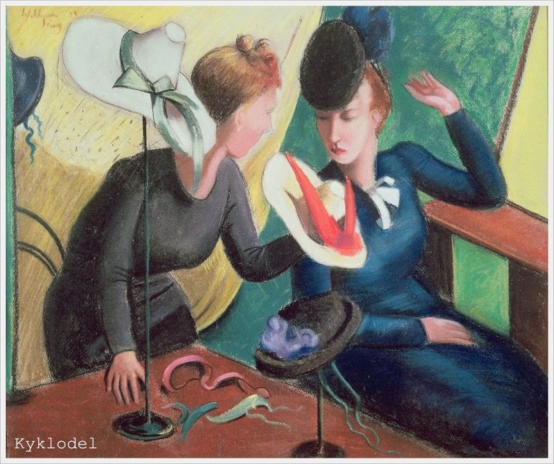 «The Hat Shop», by Dennis William Dring (British, 1904–1990)