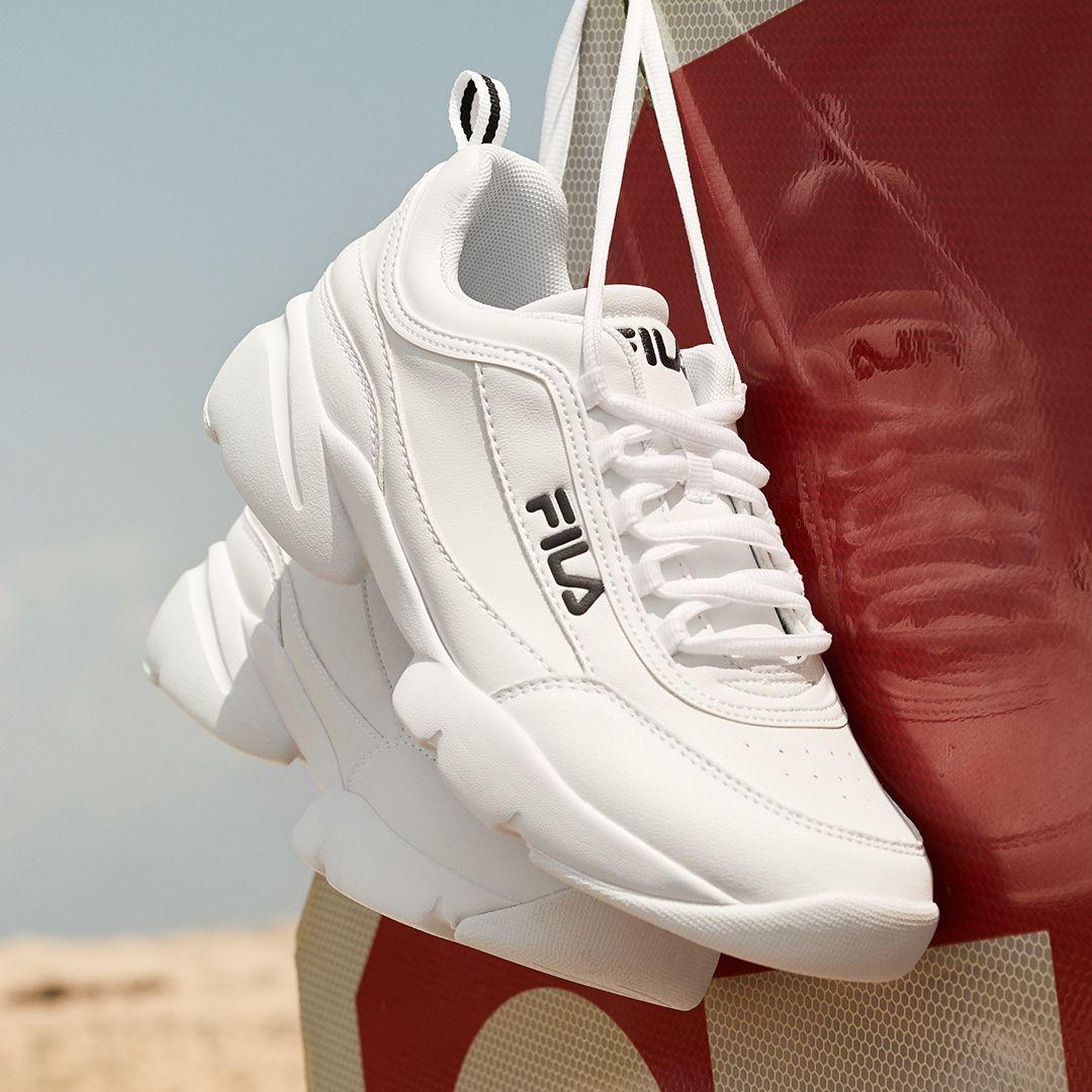 Sneaker By Deichmann White Sneaker Sneaker Fila