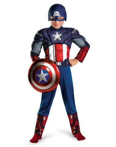 Avengers Captain America Muscle Light Up Costume Red White Blue Small Diyh Captain America Costume Captain America Halloween Costume Boy Halloween Costumes Online features require an account and are subject to terms of. pinterest