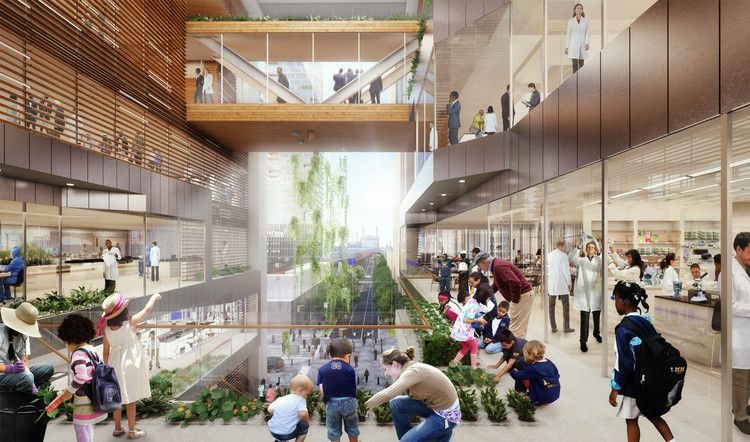 New Renderings Revealed of SHoP and West 8's $3.5 Billion Schuylkill Yards Project | ArchDaily