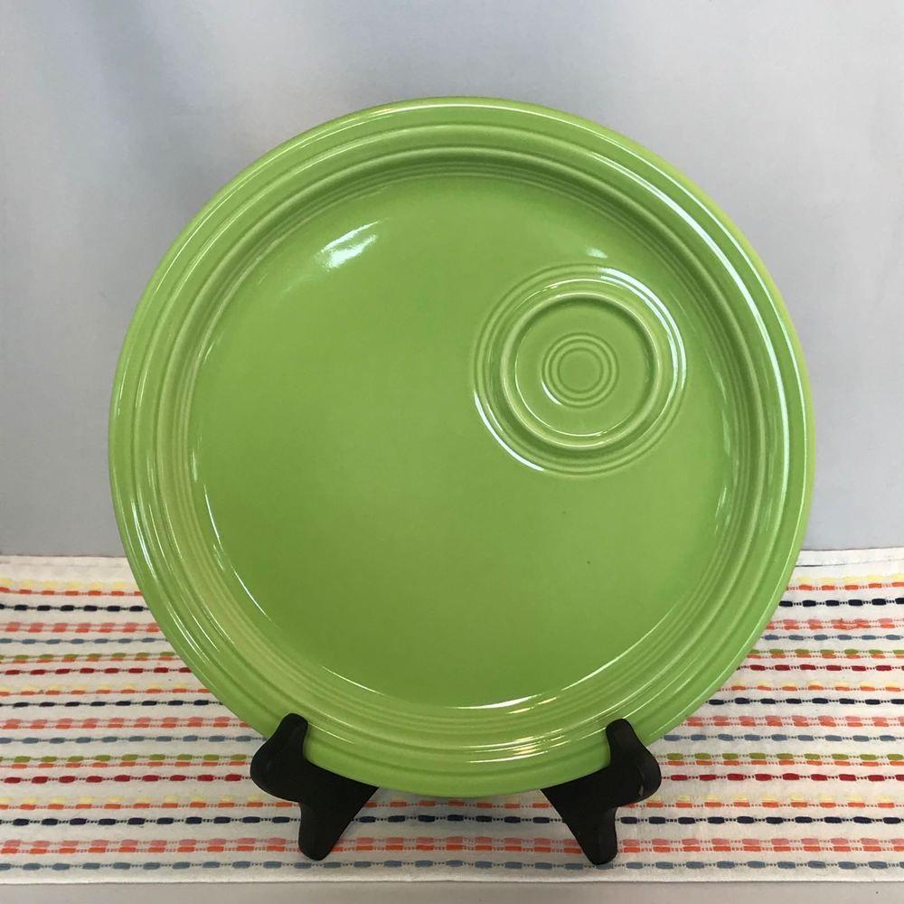 Fiestaware Chartreuse Welled Snack Plate Fiesta Retired