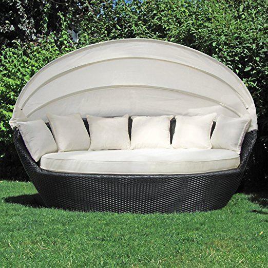 Sonneninsel Polyrattan Garten Lounge, Chill-Out Sofa mit ...