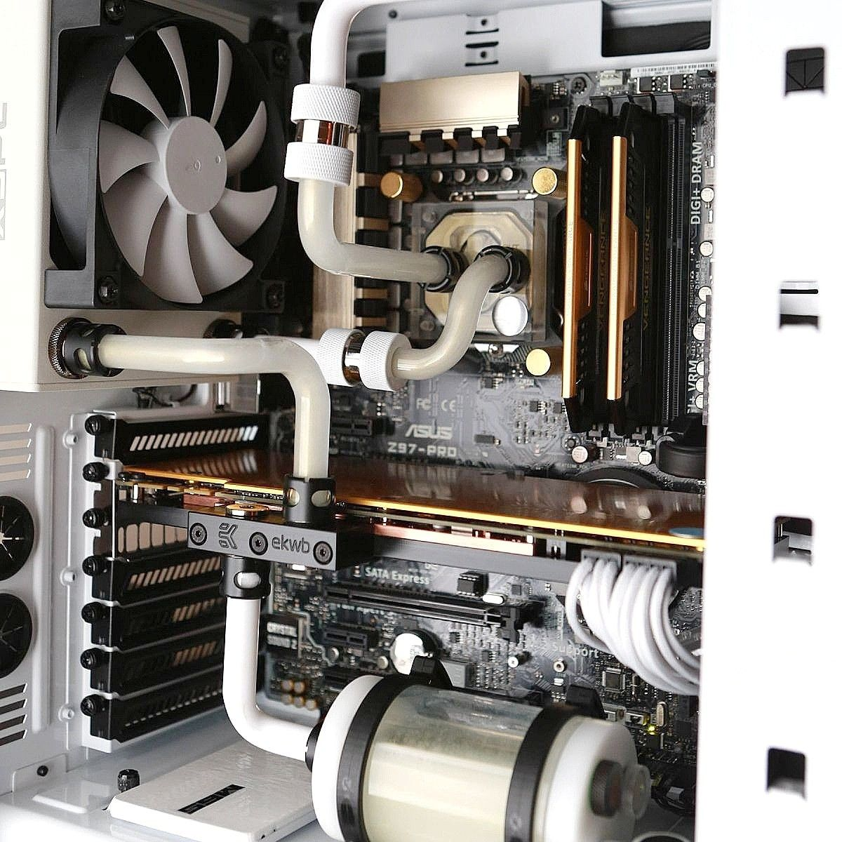 A Classic White And Gold Watercooled Pc Build Using Ekwb