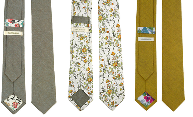 Tie love....not crazy about the floral one but I love the gray & the yellow one.
