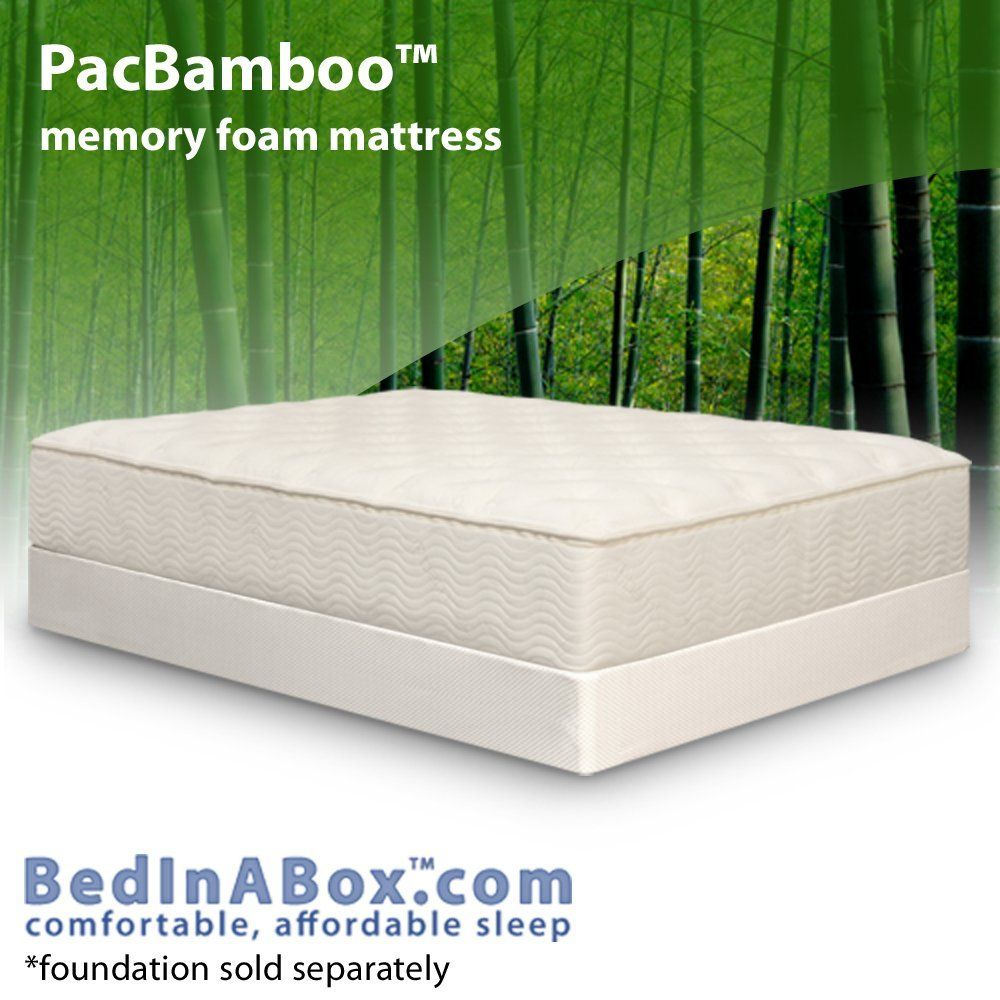Bed In A Box Pac Bamboo Gel Memory Foam Mattress