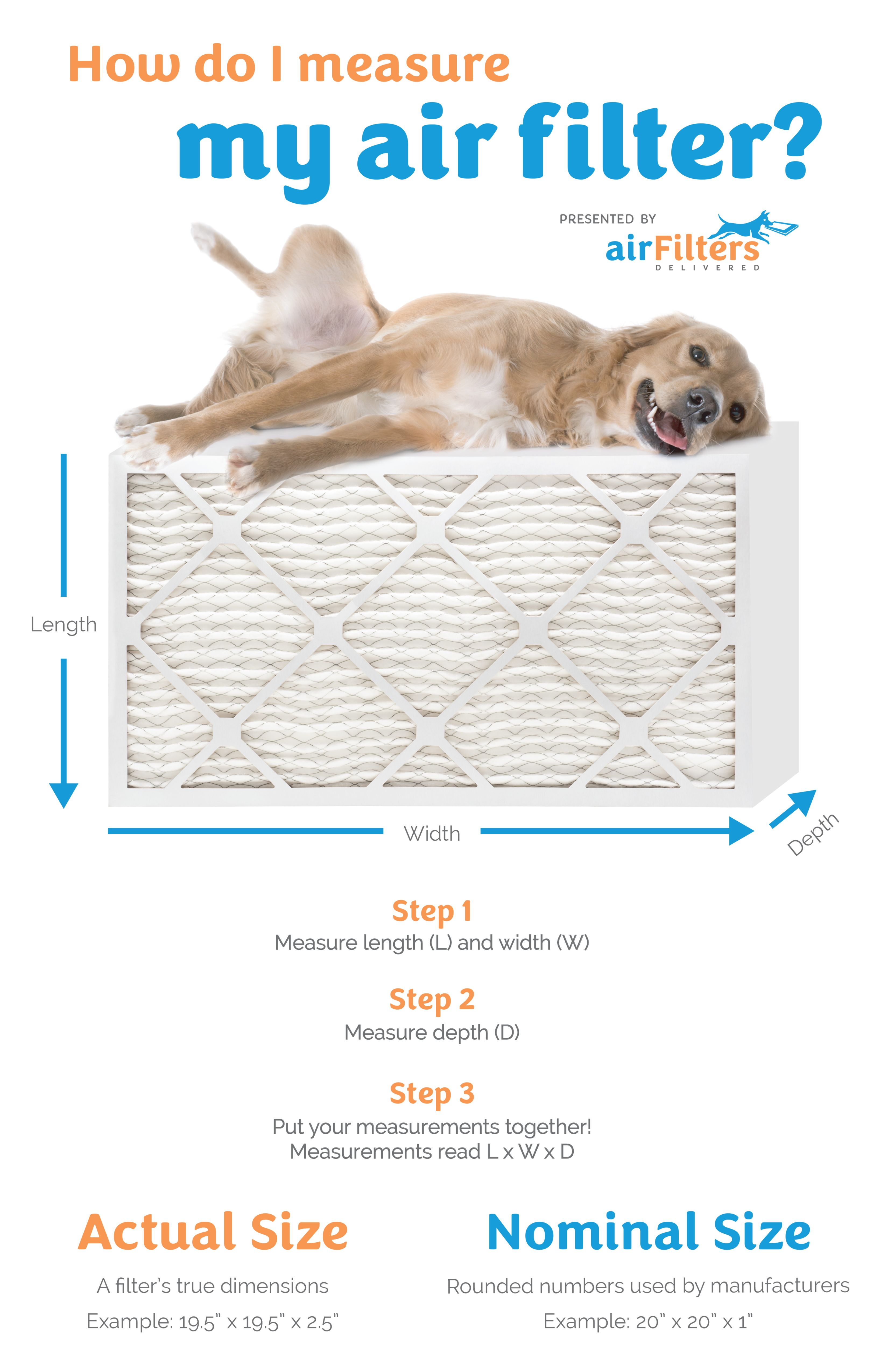 Measure Your Air Filter Size Air filter sizes, Air