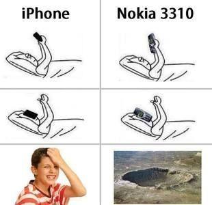 Nokia la seule marque de téléphone a savoir créer des catastrophes naturelles mdrrr