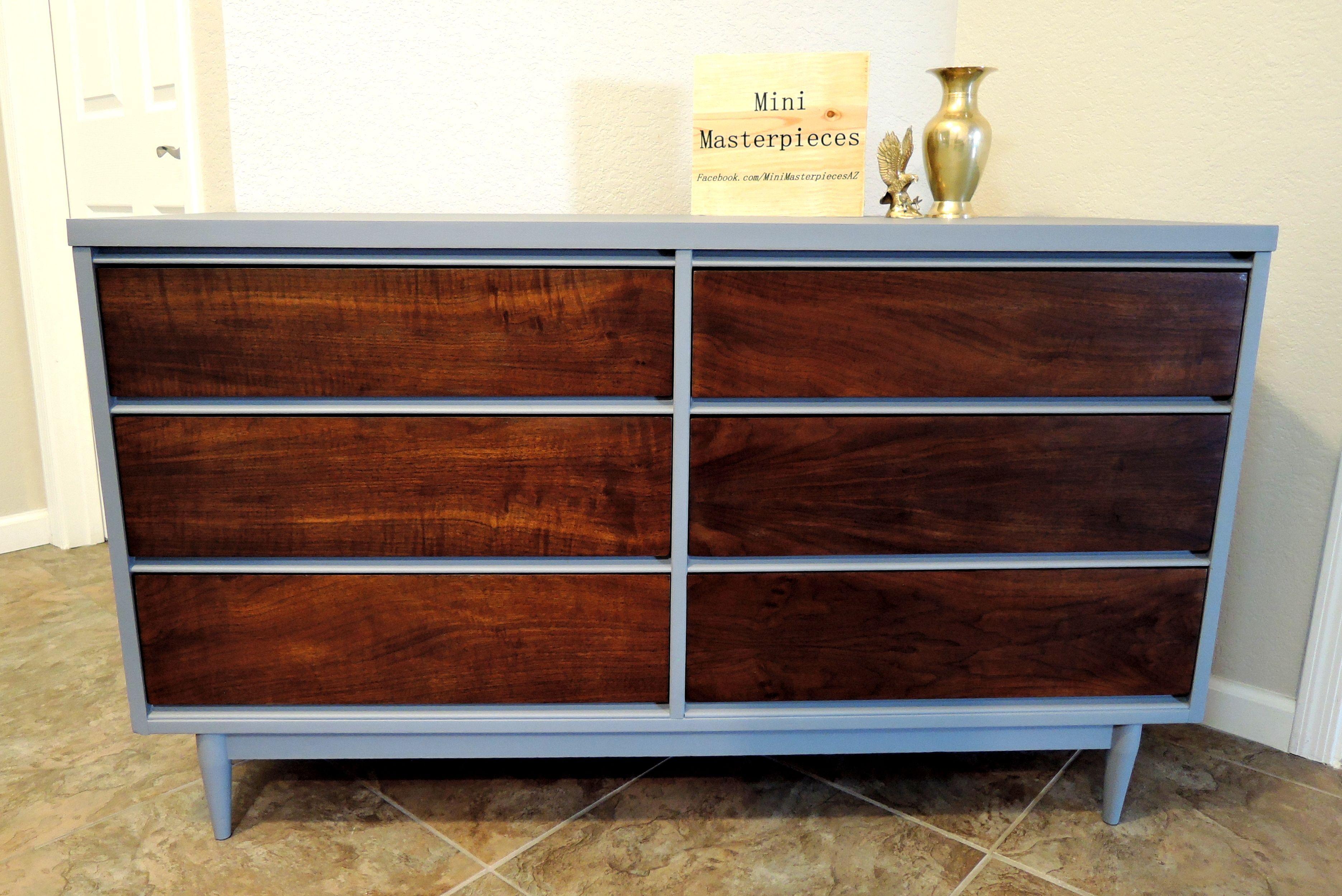 Best Refinished Mcm Dresser Broyhill Dresser And Nightstands 400 x 300