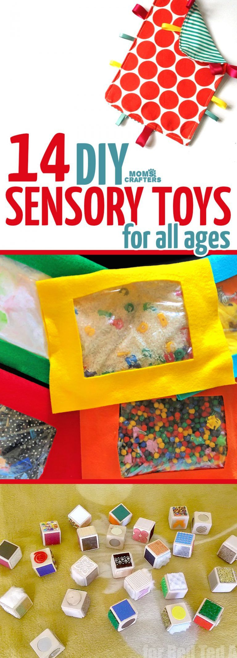 Make these cool toys for sensory play - Baby toys diy, Diy sensory toys, Baby sensory play, Diy sensory board, Diy kids toys, Sensory toys - and lots of fun!