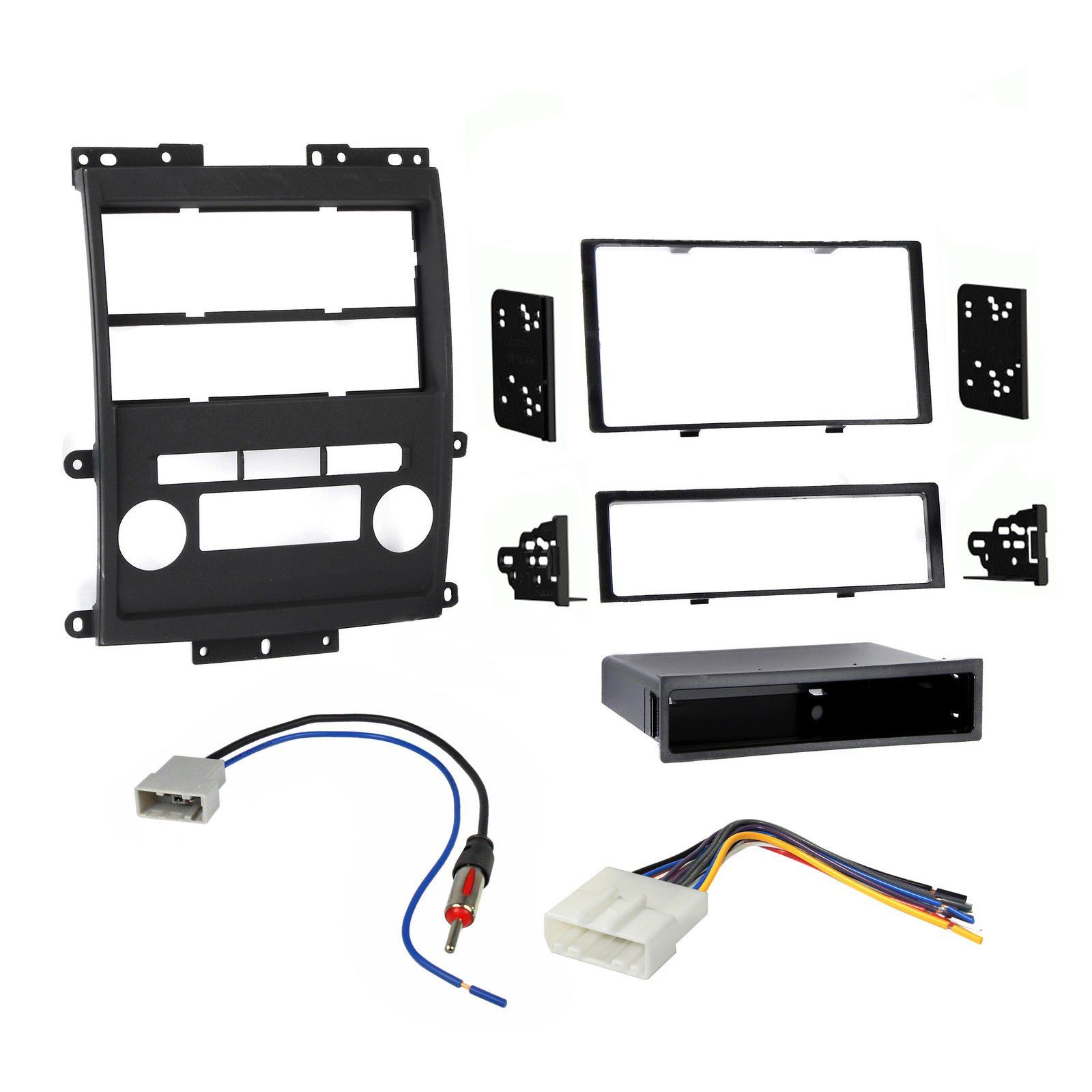 nissan frontier 2009-2013 double din dash kit with wire harness & antenna  adapter