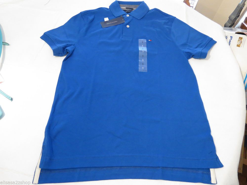 Men's Tommy Hilfiger Polo shirt solid logo L large 7854827 Olympian Blue 428  #TommyHilfiger #polo