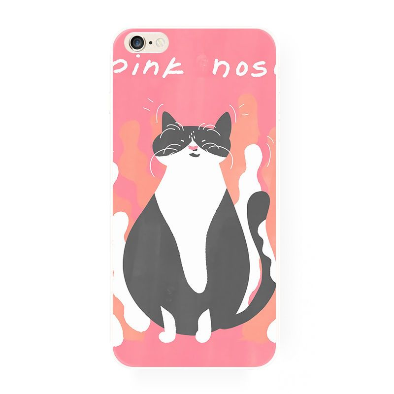 new product 58dbd e2676 Pink fat cat nice animal lover funny cute soft case for iPhone 5/5S ...