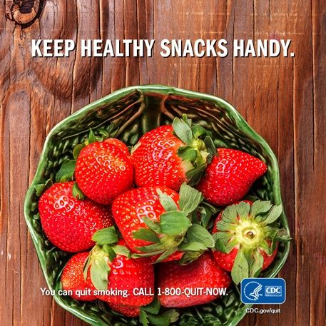 snacking on healthy foods can keep your energy up can help you put the cigarettes down