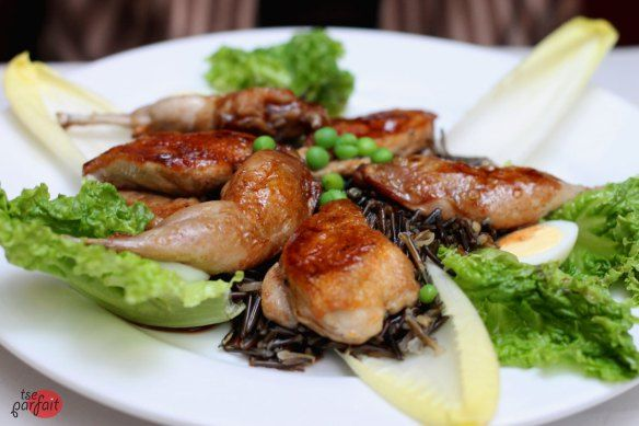 roasted #quail with wild #rice :: Restaurant L'Express, #Montreal
