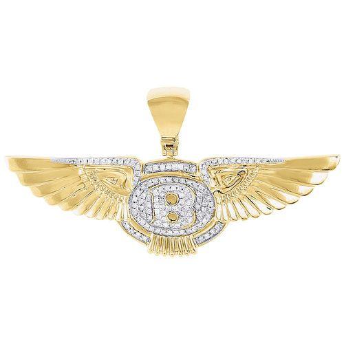 10K Gold Eagle Charm Pendant 0.59 in x 0.59 in