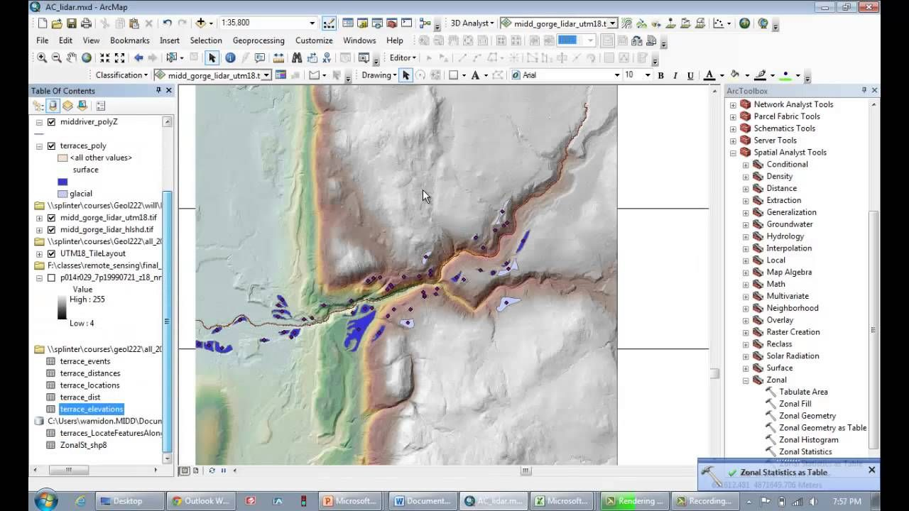 Using the locate features along route tool in ArcMap