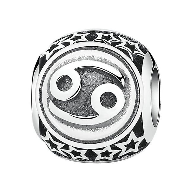 Star Sign Bead Charm, 925 Sterling Silver Horoscope Constellation Charm for Pandora Bracelet