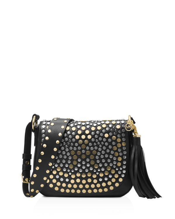 e9f04c9cd356 Michael Michael Kors Jenkins Stud Brooklyn Medium Saddle Bag ...