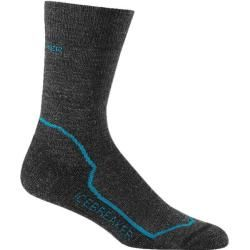 Icebreaker Damen Socken Hike+ Light Crew Jet Heather/Cruise/Black, Größe L in Schwarz IcebreakerIceb