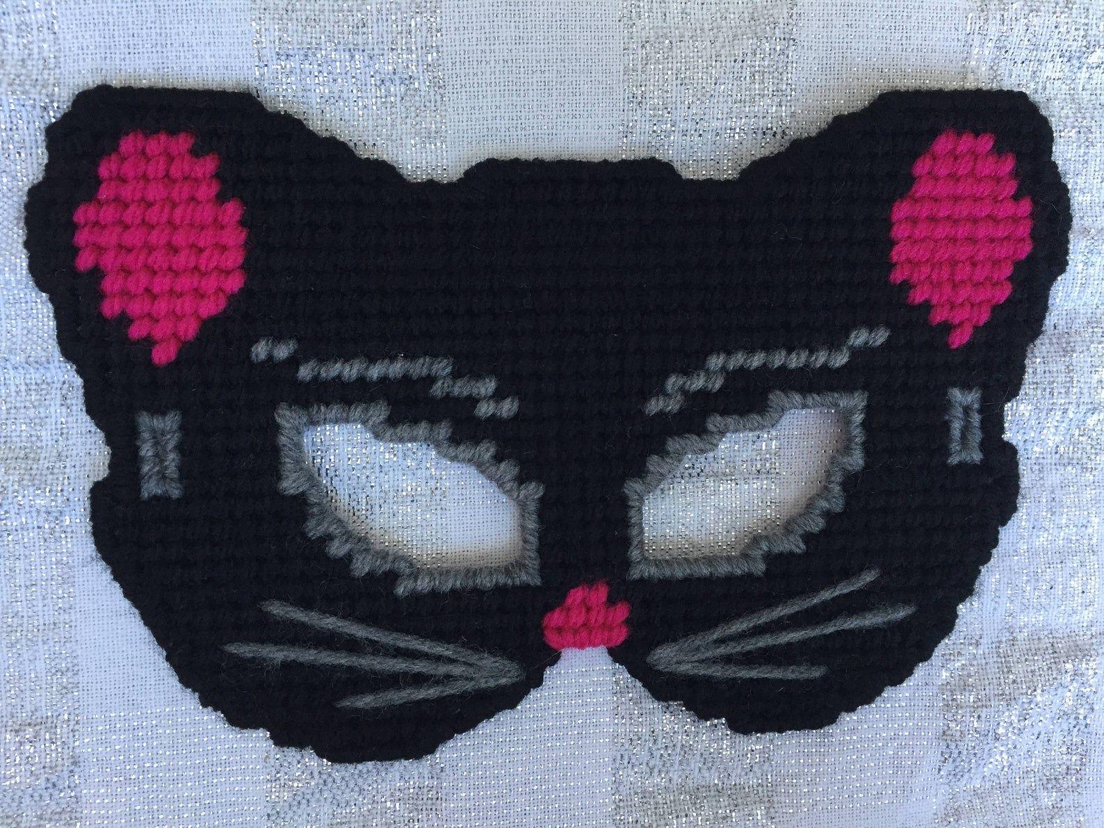 Plastic Canvas Pattern Dress Up Masks for Kid Halloween