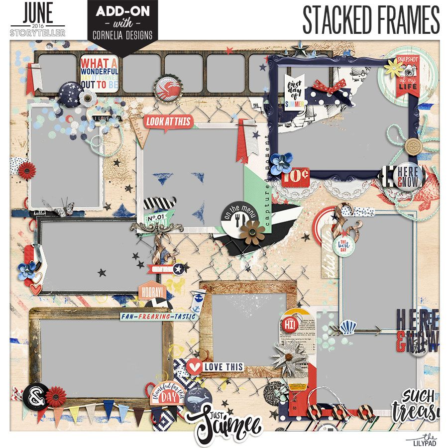 Storyteller 2016 :: Stacked Frames - June Add-on