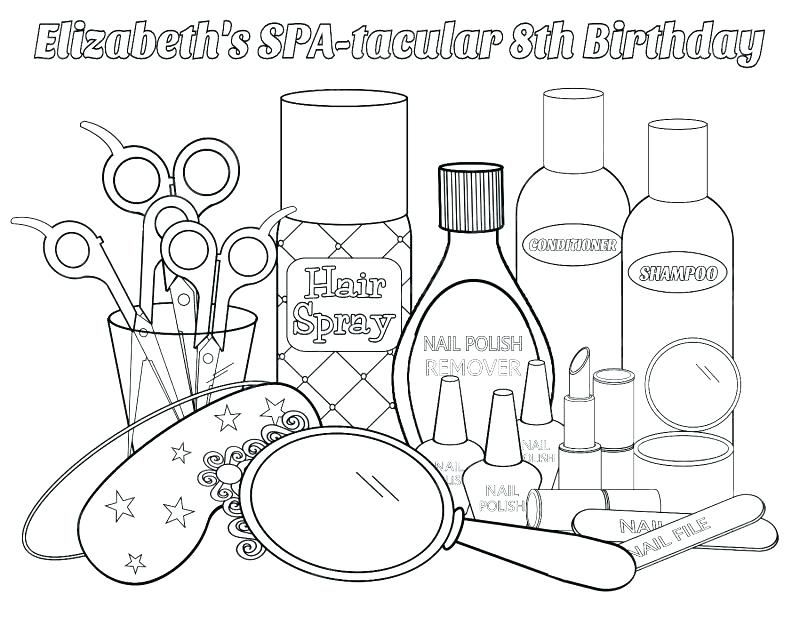 The Best Free Makeup Coloring Page Images Download From 210