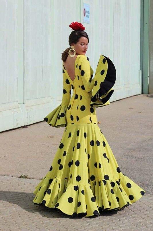 974997da04 trajes de flamenca amarillos