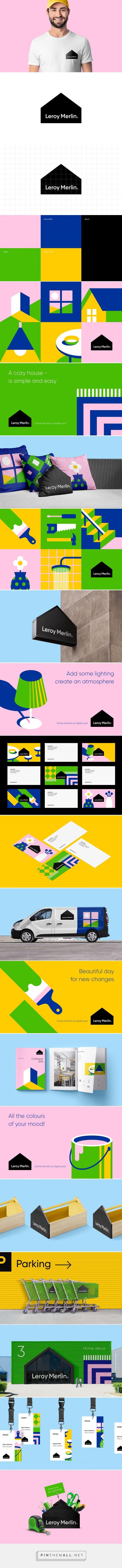 Leroy Merlin By Berik Yergaliyev On Behance Branding Design Logo Design Inspiration Branding