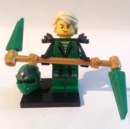 "Lego NINJAGO Minifigure LLOYD ZX The Green Ninja w/ ""TEENAGE STYLE HAIR"" & Mask!"
