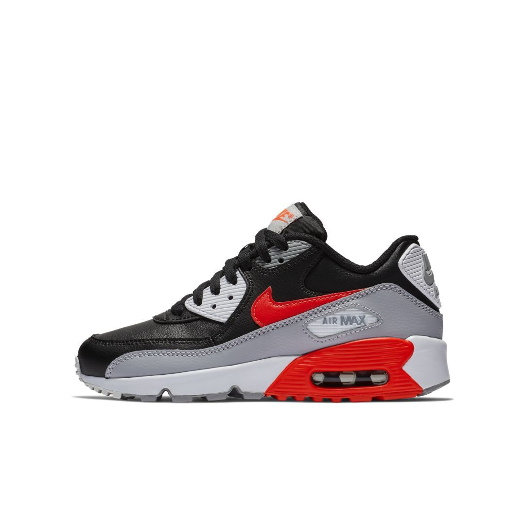 cheap for discount 22a89 7c897 Nike Air Max 90 Leather Big Kids  Shoe Size 5Y (Wolf Grey)