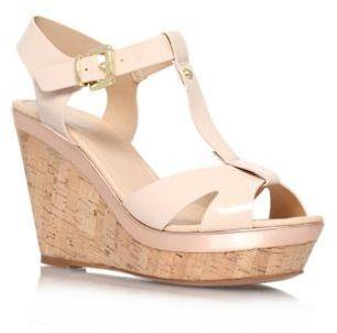 c4c4dbac0f0 Carvela Nude Kabby high heel wedge sandals on shopstyle.co.uk ...