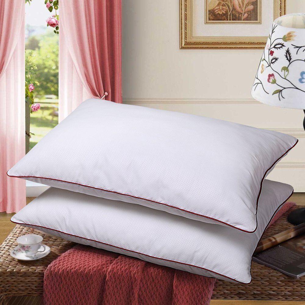 medium firm bed pillows soft down alternative set of 2 queen size