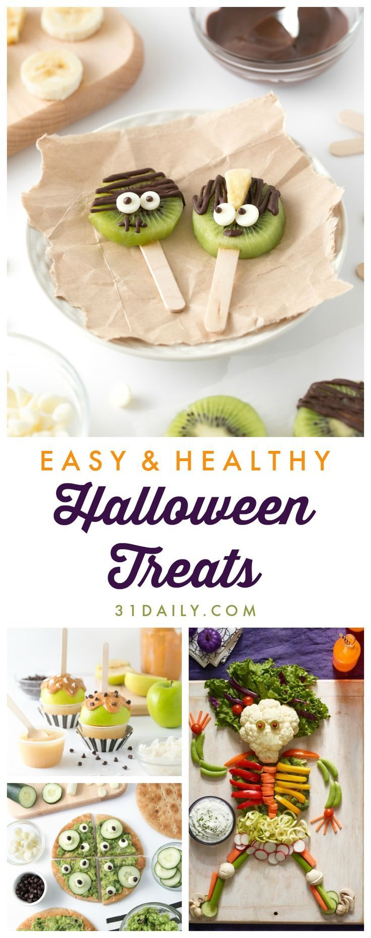 Easy Fun Healthy Halloween Treats Your Trick-or-Treaters Will Love - 31 Daily