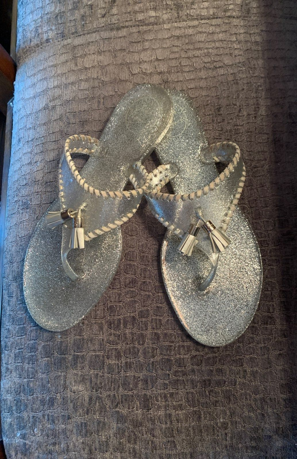 Silver Jelly Jack Rogers sandals. Great used condition