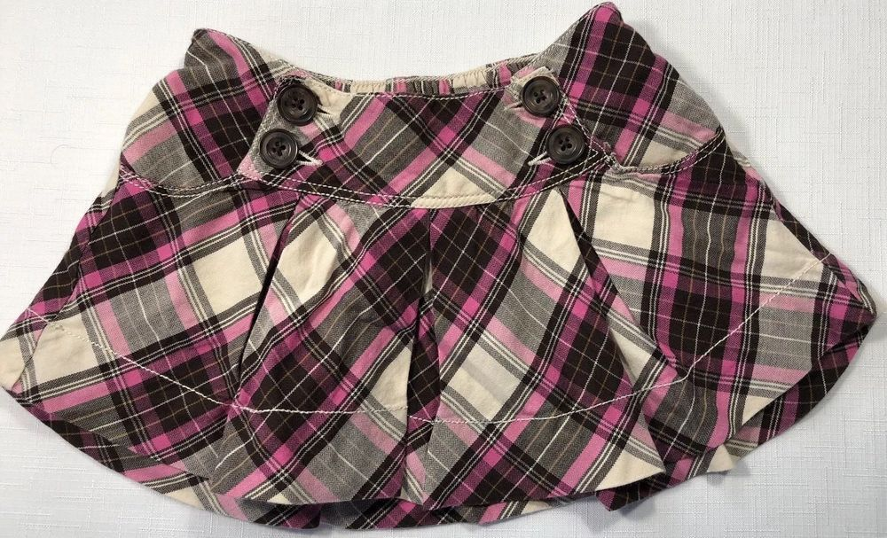 1b79f666db Baby Gap Girls 18-24 Months Pink and Brown Plaid Pleated Skirt Elastic  Waist #Gap #Pleated #EverydayHoliday