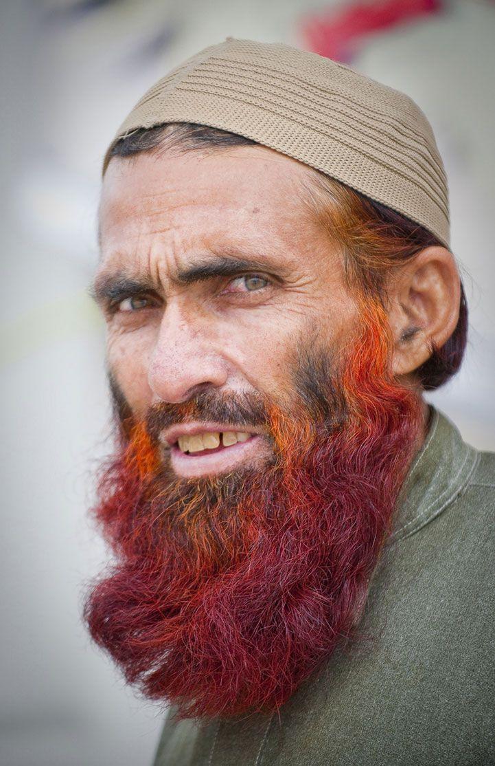 Dyed Beard Henna The Love Of Beards Pakistan Portrait Cool