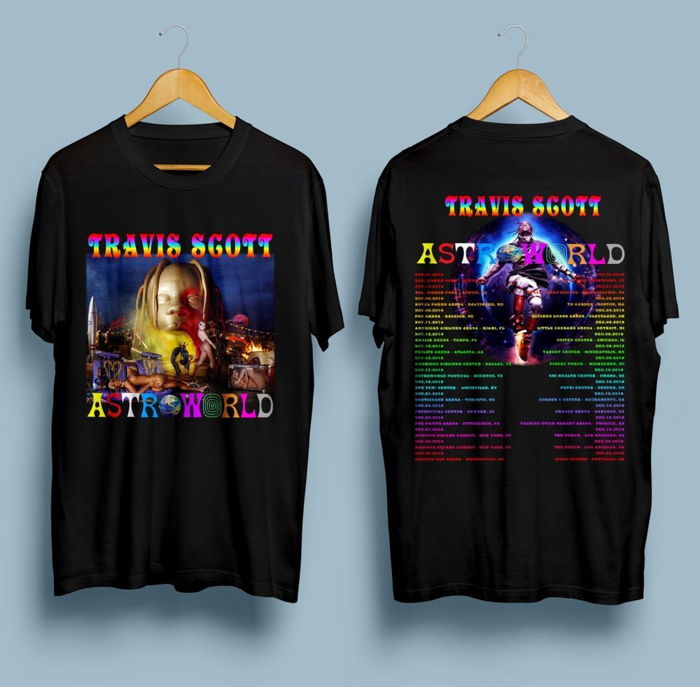 32773e47516b new Travis Scott Astroworld Tour 2018 Gildan Black T Shirt S - 2XL #fashion  #clothing #shoes #accessories #mensclothing #shirts (ebay link)