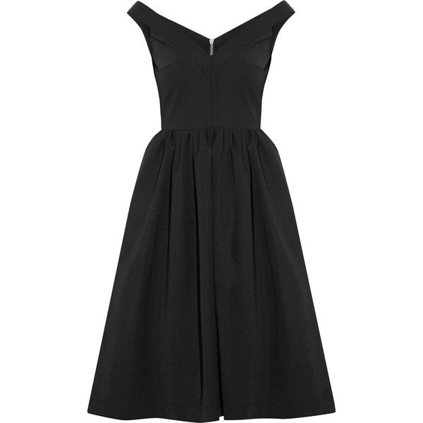Cheap With Paypal Preen By Thornton Bregazzi Woman Ted Off-the-shoulder Stretch-crepe Dress Black Size M Preen Cheap Sale Low Price Super Specials Fast Express EFphDiiZE
