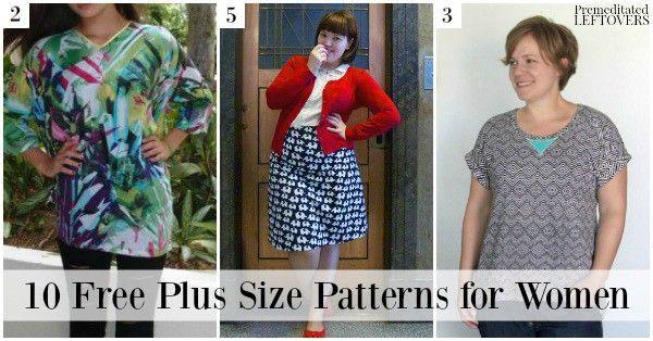 10 Free Plus Size Patterns Including Free Plus Size Dress Patterns
