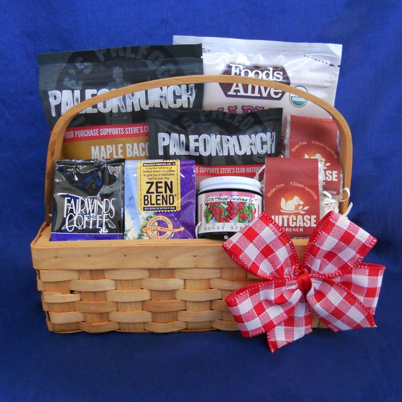 Paleo breakfast gift basket make breakfast easy with this send a healthy gift for any occasion our gifts are gluten free soy free peanut free and dairy free negle Choice Image