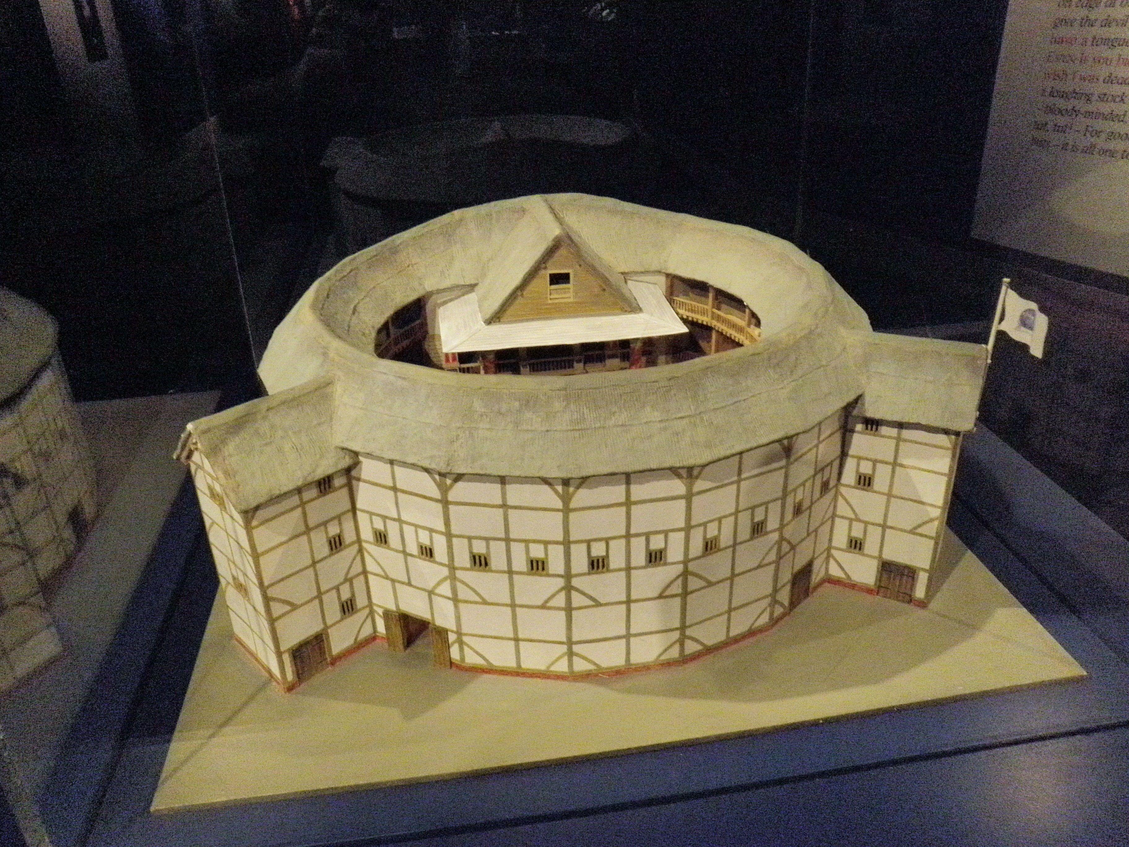 Globe theatre model popsicle sticks google search for Theatre model