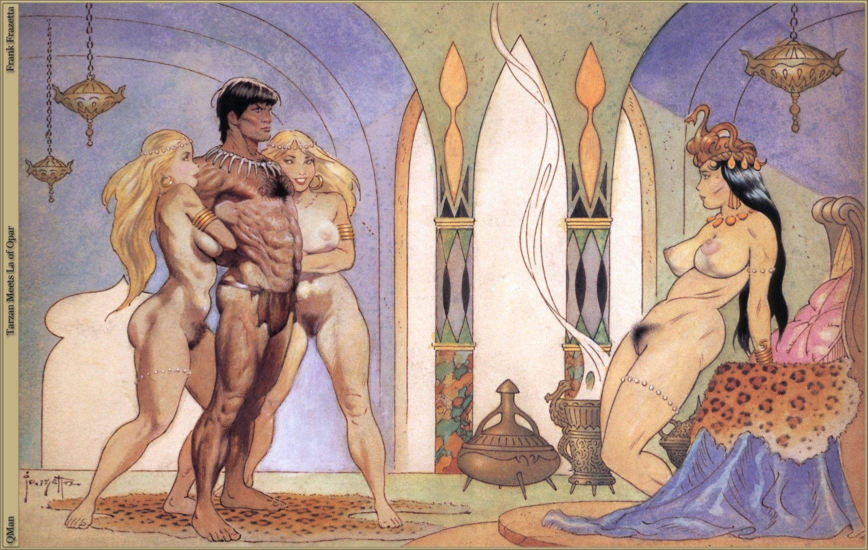 Tarzan Meets La Of Opar